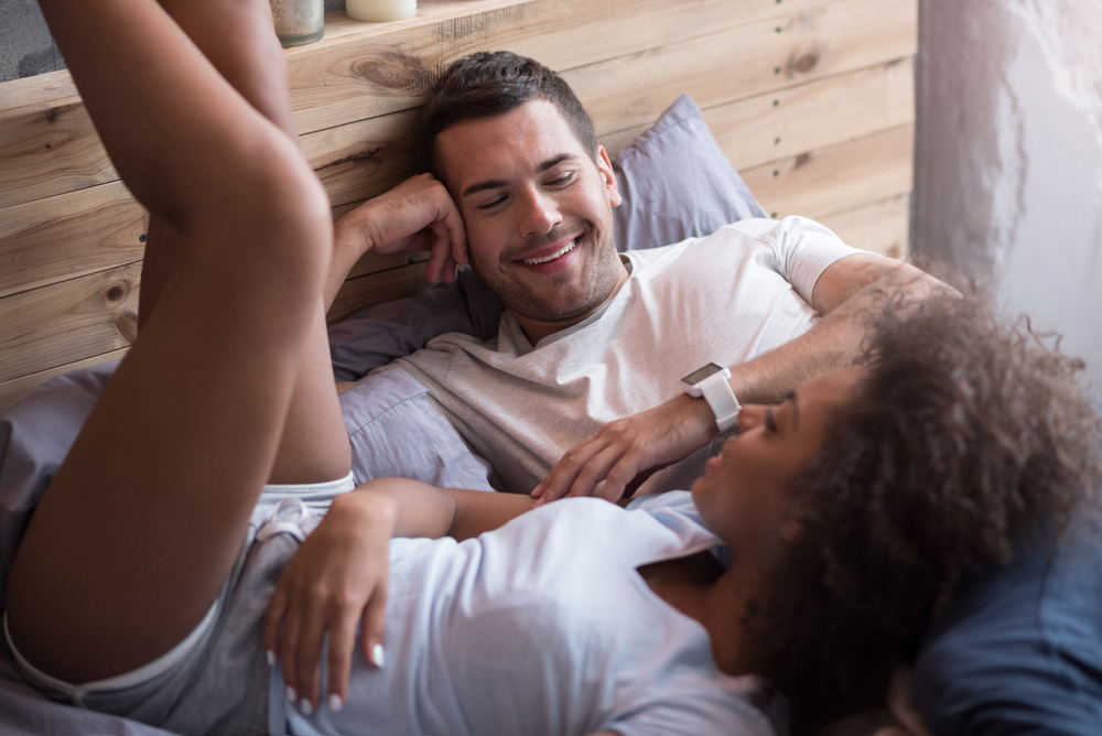 Happy couple talking in the morning - How to Get a Leo Man to Marry You