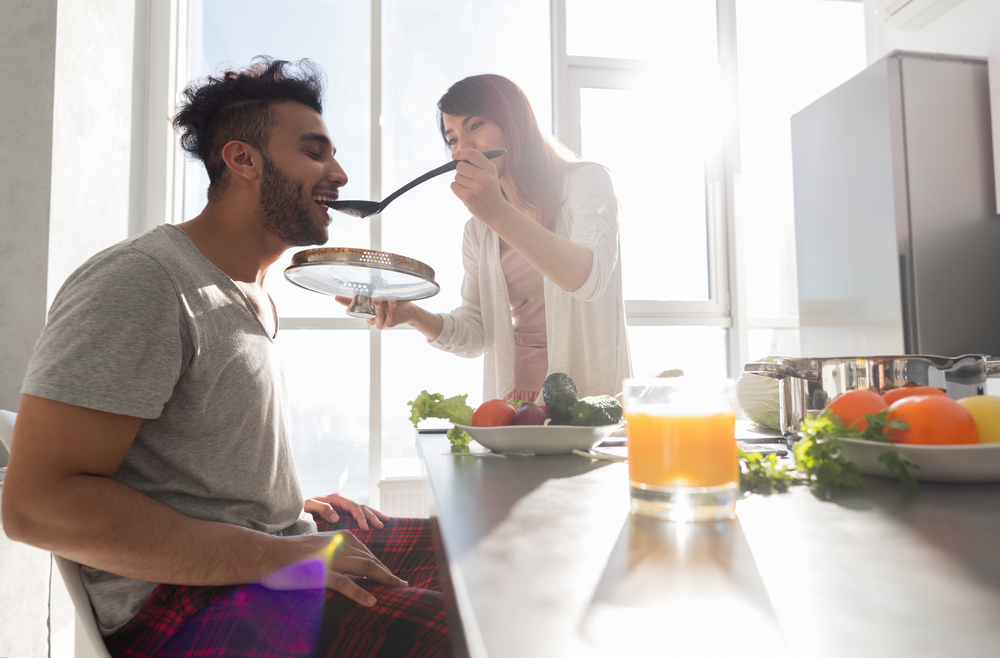 Young Couple Having Breakfast - How To Cheer Up Your Leo Man